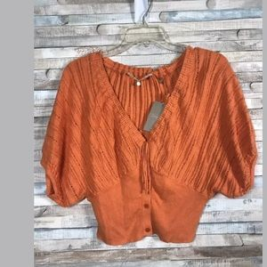 Anthropologie Knitted & Knotted Crop cardigan S